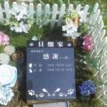 貝畑 毎年恒例の墓参り